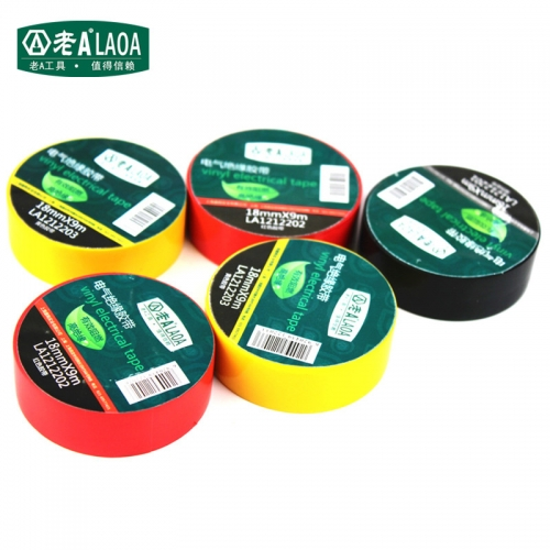 3 pcs/pack  LAOA Colorful Insulate Electrician Tape 18mm*9m  Electrical Adhesive Tape