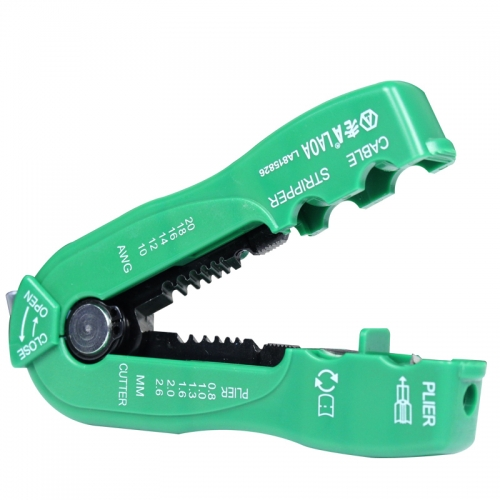 Wire cutter cable stripper line wire stripping crimp tool mini portable hand tools 0.8-2.6mm  LA815826
