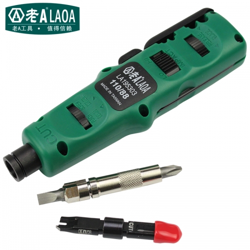 LAOA 4 in 1 Multi Function Module Network punching Tools Punch Down Impact Tool With Wire Insertion Cutting Function Screwdriver