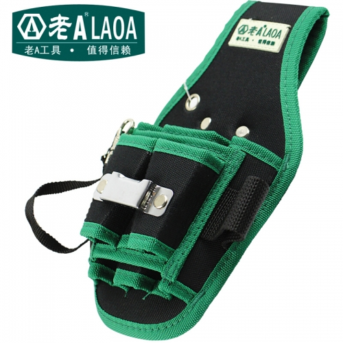 LAOA Thickening Oxford Cloth Electrical Waist Bag  Maintenance Electrician Bag Waist Bag + Belt