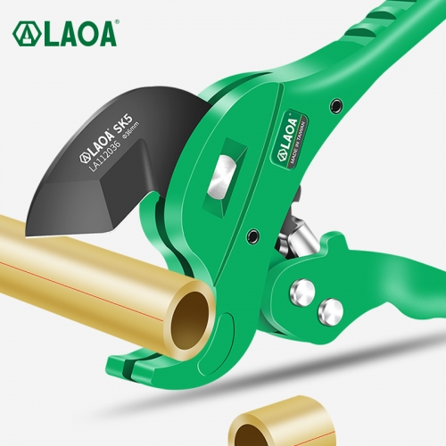 LAOA Pipe Cutter 36-42mm Pipe Scissors SK5 Material With Teflon Treatment Ratchet PVC/PE/VE Pipe Cutter Scissors