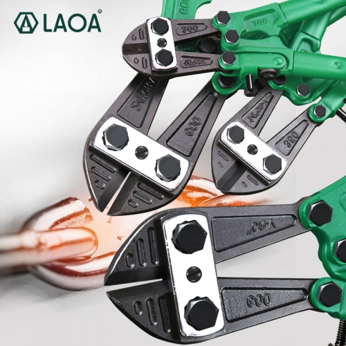 LAOA Bolt Cutter Heavy Duty Rebar Cutter Cr-V Steel Thicken Wire Cutting Pliers Cut Lock Chain