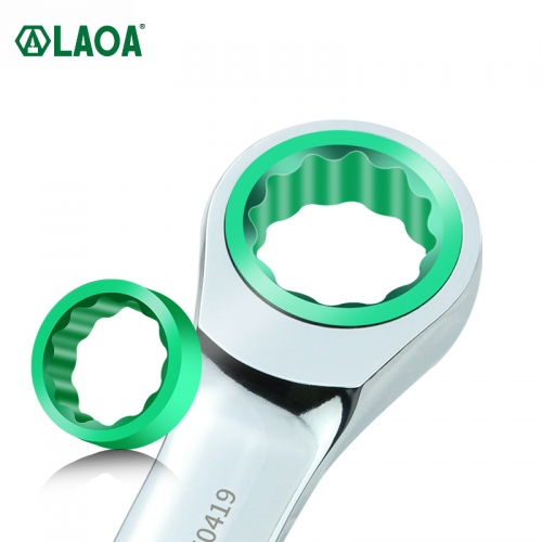 LAOA Mini Short Ratchet Wrench 16-20mm Adjustable Spanners CR-V Monkey Wrench for Car Vehicle Auto Replacement Parts DIY